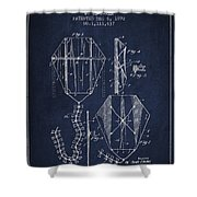 Vintage Folding Kite Patent From 1892 Shower Curtain by Aged Pixel