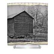 Vintage Frosty Morning 2 Shower Curtain by Chalet Roome-Rigdon