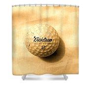 Vintage Golf Ball Shower Curtain by Anita Lewis