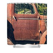 Vintage Old Rusty Truck Shower Curtain by Edward Fielding