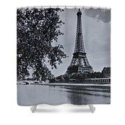 Vintage Paris Shower Curtain by Georgia Fowler