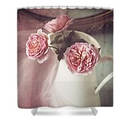 Vintage Pink Shower Curtain by Amy Weiss