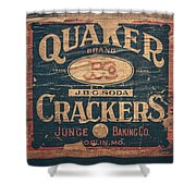 Vintage Quaker Crackers For The Kitchen Shower Curtain by Lisa Russo