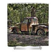 Vintage Rust Shower Curtain by Benanne Stiens