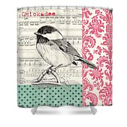 Vintage Songbird 3 Shower Curtain by Debbie DeWitt