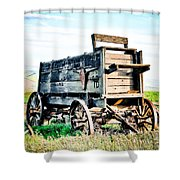 Vintaged Covered Wagon Shower Curtain by Athena Mckinzie