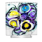 Viola Tricolor Shower Curtain by Anastasiya Malakhova