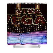 Viva Vegas Neon Shower Curtain by Bob Christopher