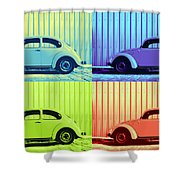 Vw Pop Summer Shower Curtain by Laura Fasulo