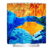 Wadi Rum Natural Arch 2 Shower Curtain by Catf