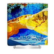 Wadi Rum Natural Arch Shower Curtain by Catf