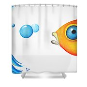 Wait Up  Shower Curtain by Oiyee  At Oystudio