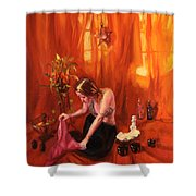 Waiting for my Husband Shower Curtain by Shelley Irish