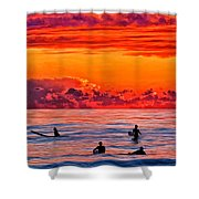 Waiting For The Next Set Shower Curtain by Michael Pickett