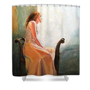 Waiting Shower Curtain by Sarah Parks