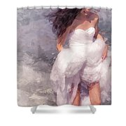 Walk Off The Earth Shower Curtain by Jenny Rainbow