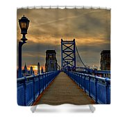 Walk With Me Shower Curtain by Evelina Kremsdorf