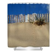 walking on the moon Shower Curtain by Laura  Fasulo