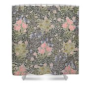 Wallpaper Design With Tulips Daisies And Honeysuckle  Shower Curtain by William Morris