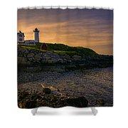 Warm Nubble Dawn Shower Curtain by Joan Carroll