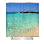 Warm Welcoming. Maldives Shower Curtain by Jenny Rainbow