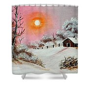 Warm Winter Day After Bob Ross Shower Curtain by Barbara Griffin