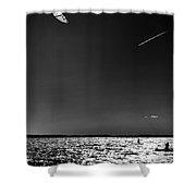 Warp Speed Shower Curtain by Robert McCubbin