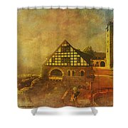 Wartburg Castle Shower Curtain by Catf