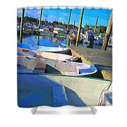 Warwick Marina Shower Curtain by Lourry Legarde
