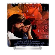 Washed In His Love Shower Curtain by Jennifer Page