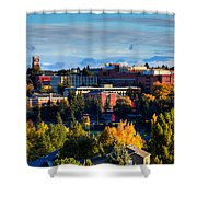 Washington State University In Autumn Shower Curtain by David Patterson