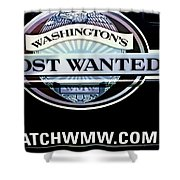 Washington's Most Wanted Shower Curtain by Tikvah's Hope