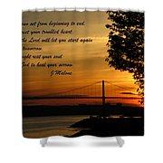 Watch The Sun Set Shower Curtain by John Malone