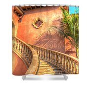 Watch Your Step And Welcome Shower Curtain by Heidi Smith