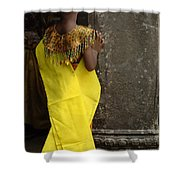 Watching In Cambodia Shower Curtain by Bob Christopher