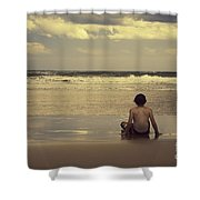 Watching the Waves Shower Curtain by Linda Lees