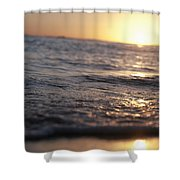 Water at Sunset Shower Curtain by Brandon Tabiolo