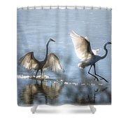 Water Ballet  Shower Curtain by Saija  Lehtonen