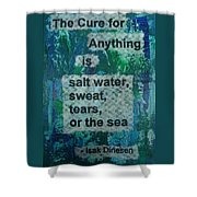 Water Cure - 1 Shower Curtain by Gillian Pearce
