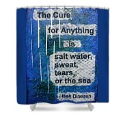 Water Cure - 2 Shower Curtain by Gillian Pearce