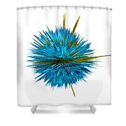 Water Explosion Shower Curtain by Kaye Menner