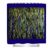 Water Reeds Shower Curtain by Karen Wiles