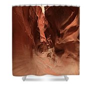 Water Sculpted Curves Shower Curtain by Adam Jewell
