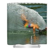 Water Skiing 5 Magic Of Water Shower Curtain by Bob Christopher