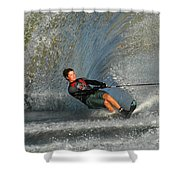 Water Skiing Magic Of Water 13 Shower Curtain by Bob Christopher