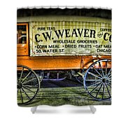 Water St. -  Chicago - The Salesman  Shower Curtain by Paul Ward