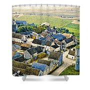 Water Tower Shower Curtain by Chuck Staley
