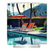 Water Waiting Palm Springs Shower Curtain by William Dey