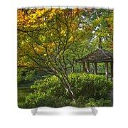 Watercolor Gardens Shower Curtain by Joan Carroll