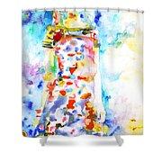 Watercolor Woman.18 Shower Curtain by Fabrizio Cassetta